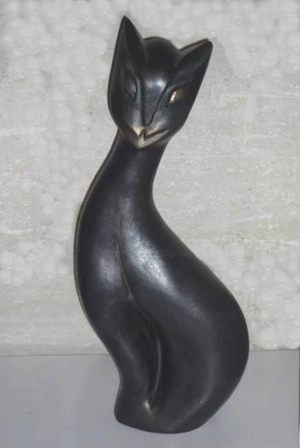 Mandel Sonia - CHARLY AU PARADIS  Plâtre patiné noir