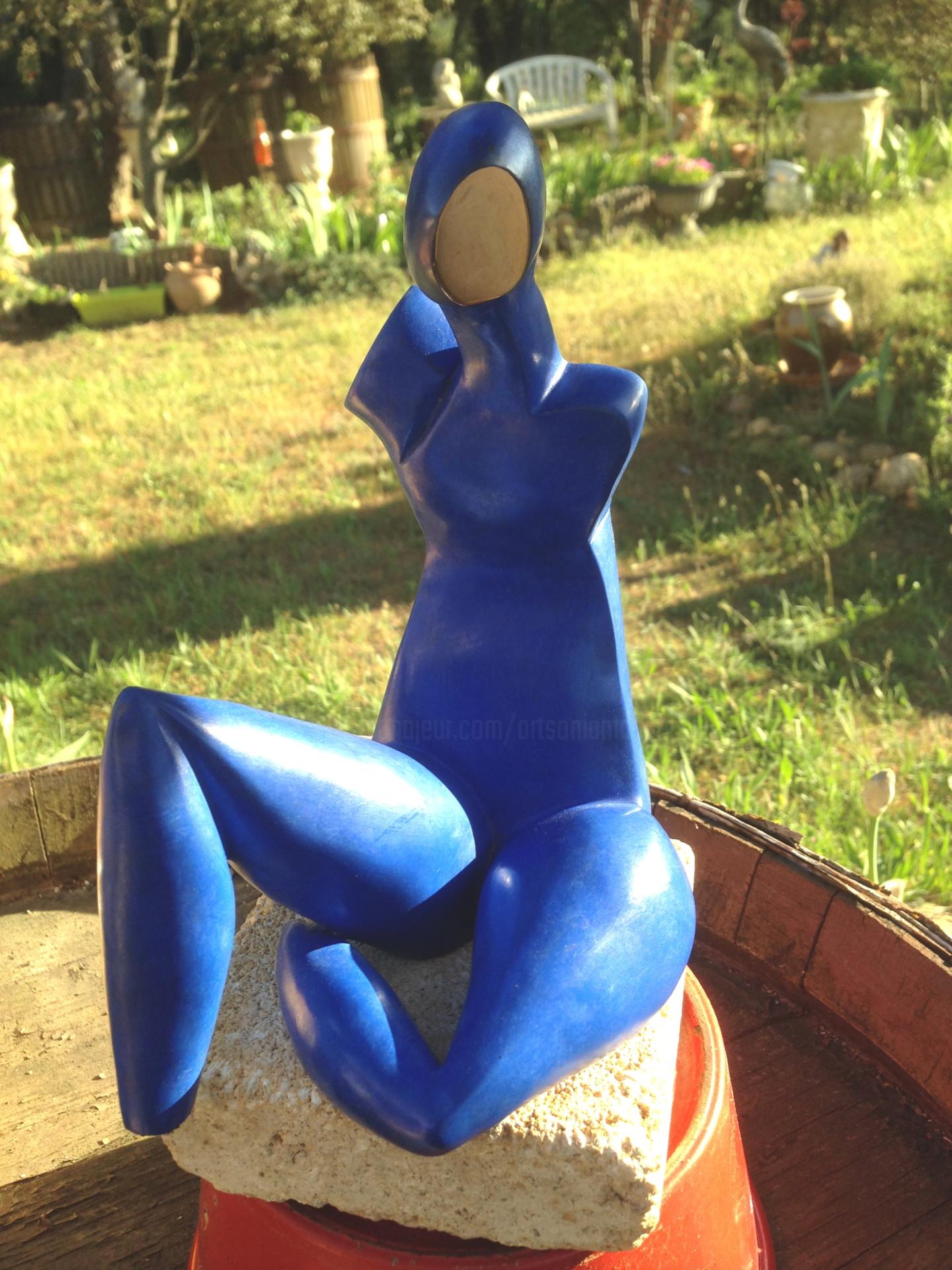 Mandel Sonia - TIFFANY Bronze bleu électric et poli